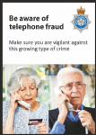 NYP17-0017 - Postcard: Be aware of telephone fraud